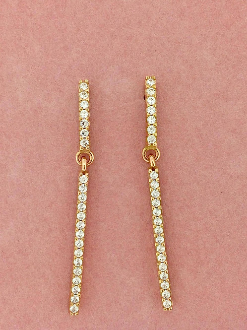Pink Obsession White Brilliance Long earrings