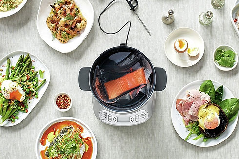 sous vide steaming poaching poached eggs appliances appliance malta sage salmon eggs breakfast