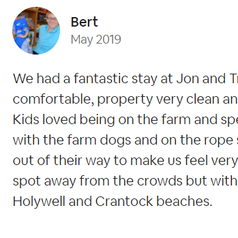 Review by Bert | Dog-friendly Accommodation | Farm Cottage | Newquay