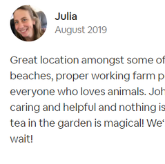 Review by Julia | Dog-friendly Accommodation | Farm Cottage | Newquay