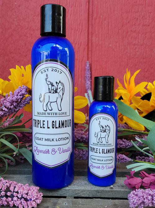 Triple L Vanilla and Lavender Goat Milk Lotion 8 oz