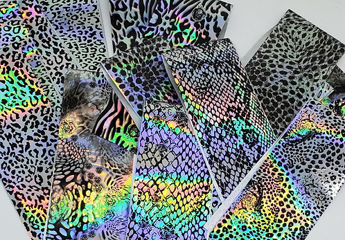 Holographic Animal Print Foils 16 sheets