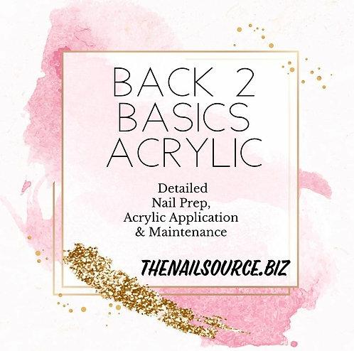 Back to Basics Acrylic