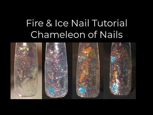 Fire & Ice Chameleon Nail
