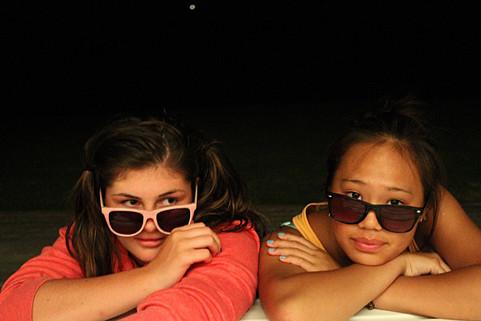 Sunglasses at night!
