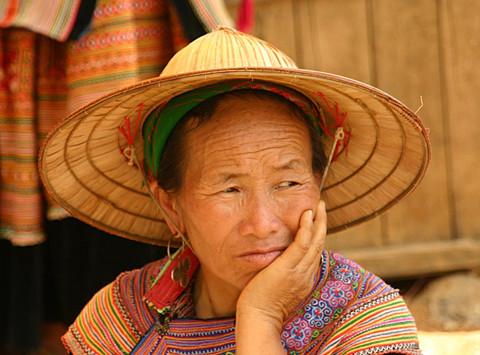 Vietnamese market-seller