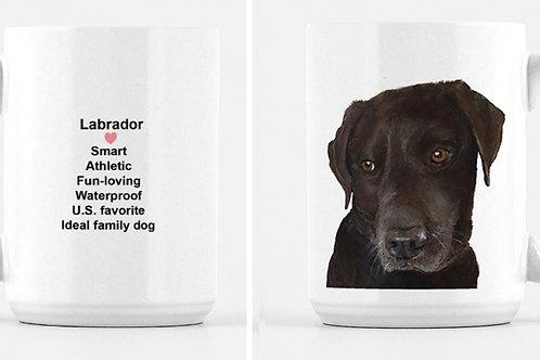 Chocolate Lab Mug 15oz.  Click-details/personalize