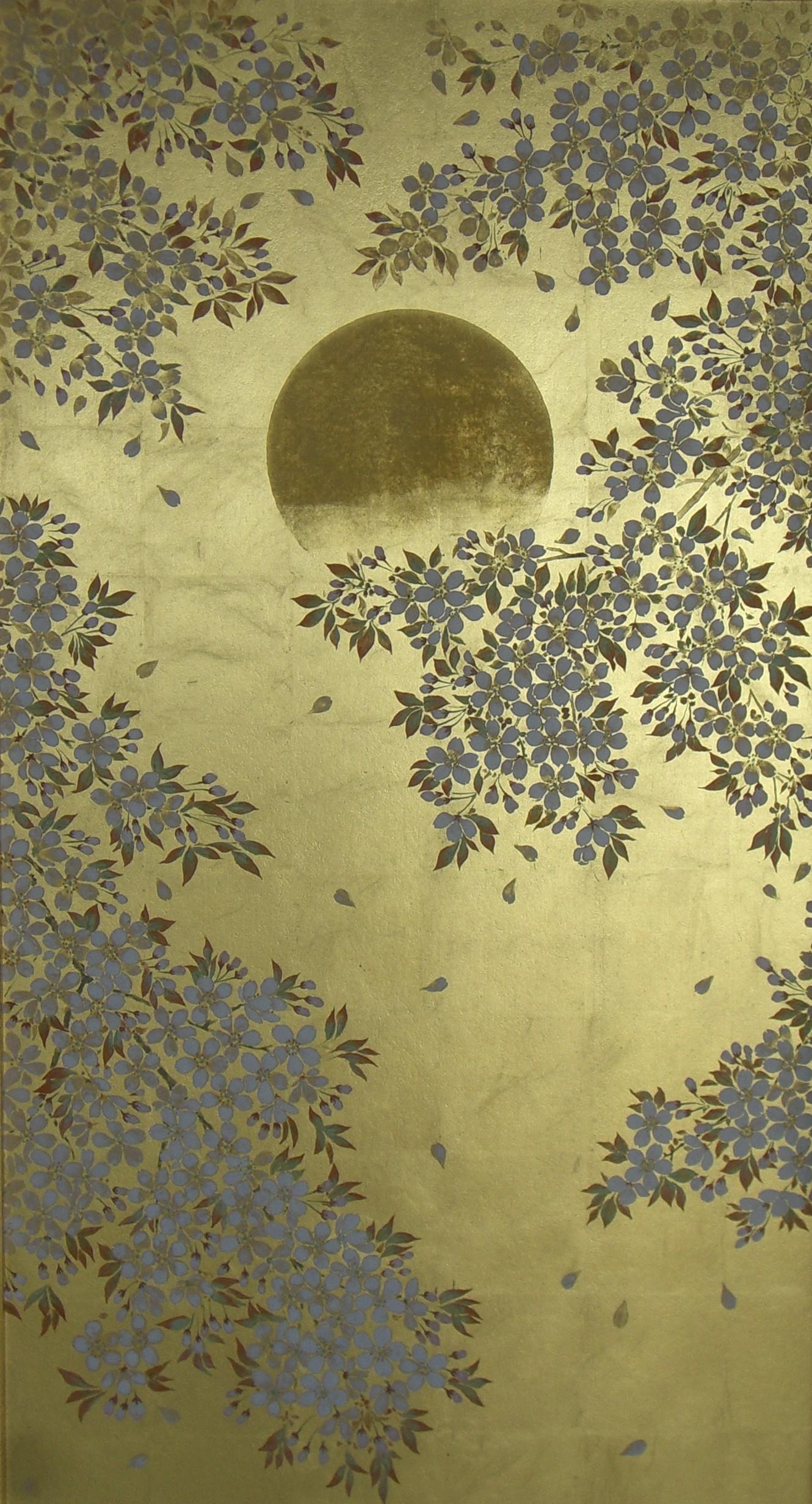 月の光に咲く「爛漫」部分①
