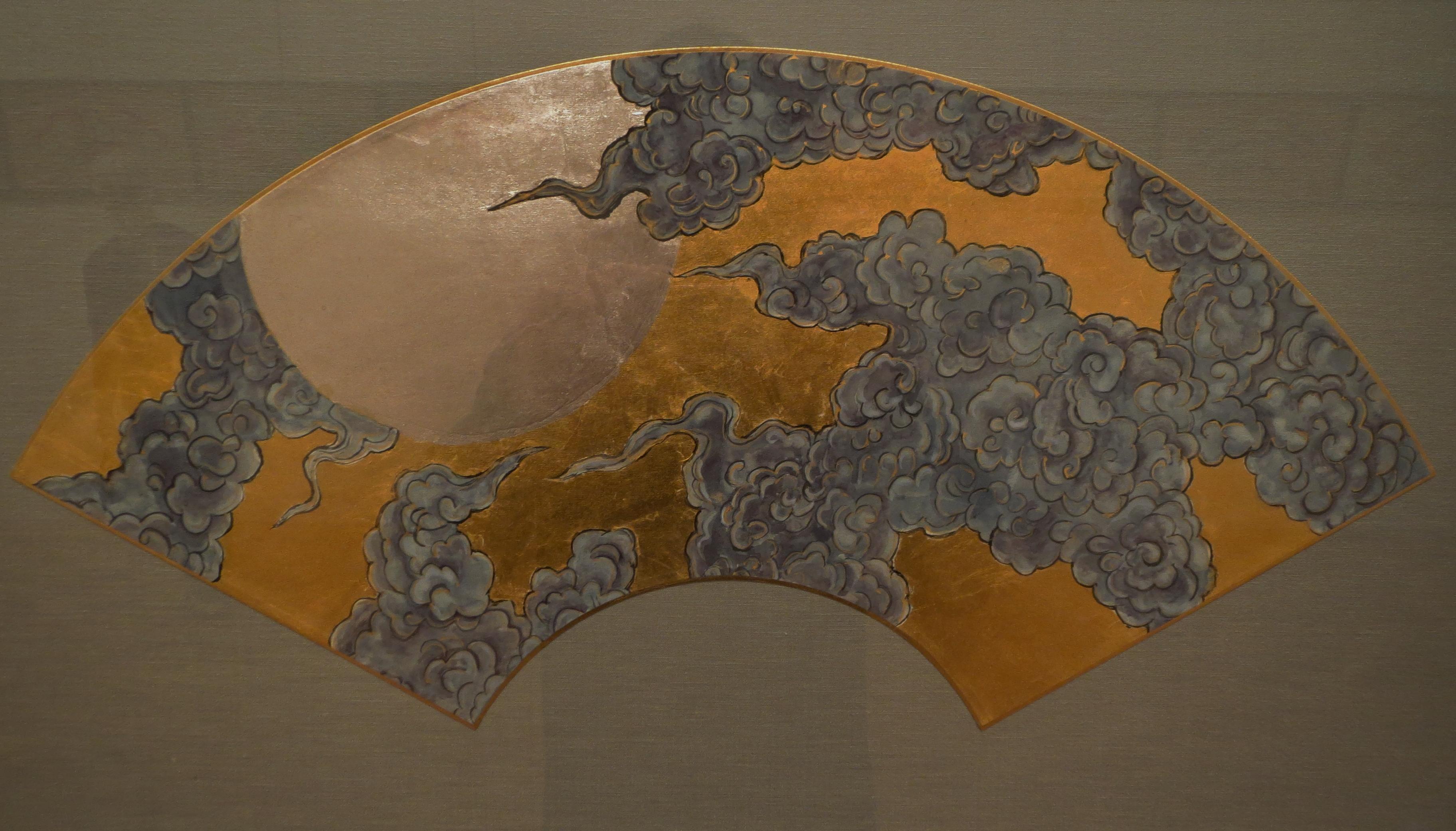 山姥扇 雲月図
