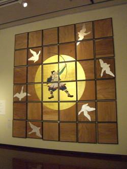 六殿神社天井画「源為朝像」