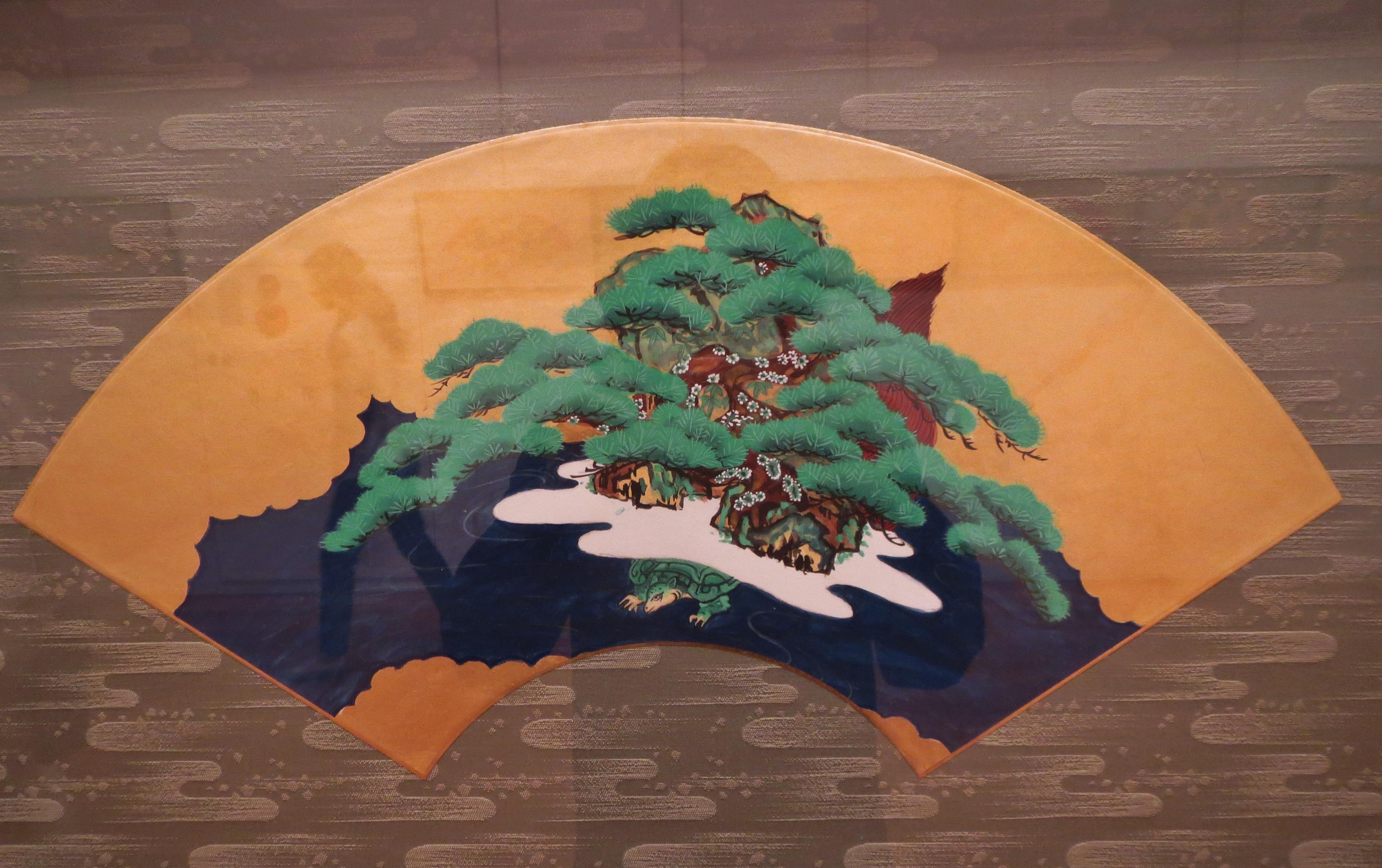 翁扇 蓬莱山図
