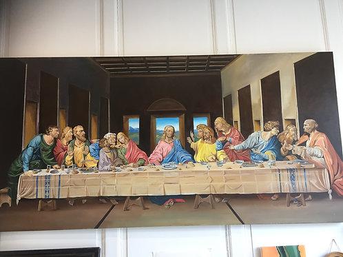 Peinture à l'huile sur toile grand format