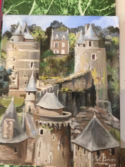 Peinture à l'huile Fougères