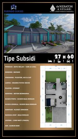 Denah Rumah Subsidi Dekeraton
