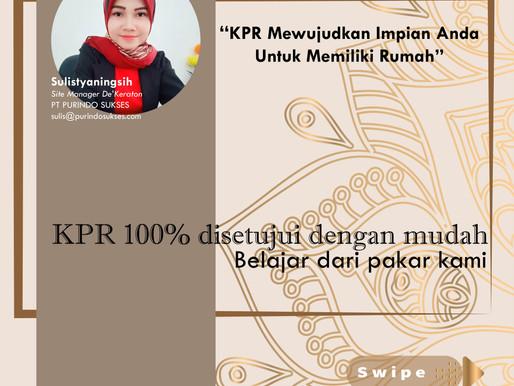 KPR 100% Disetujui Dengan Mudah