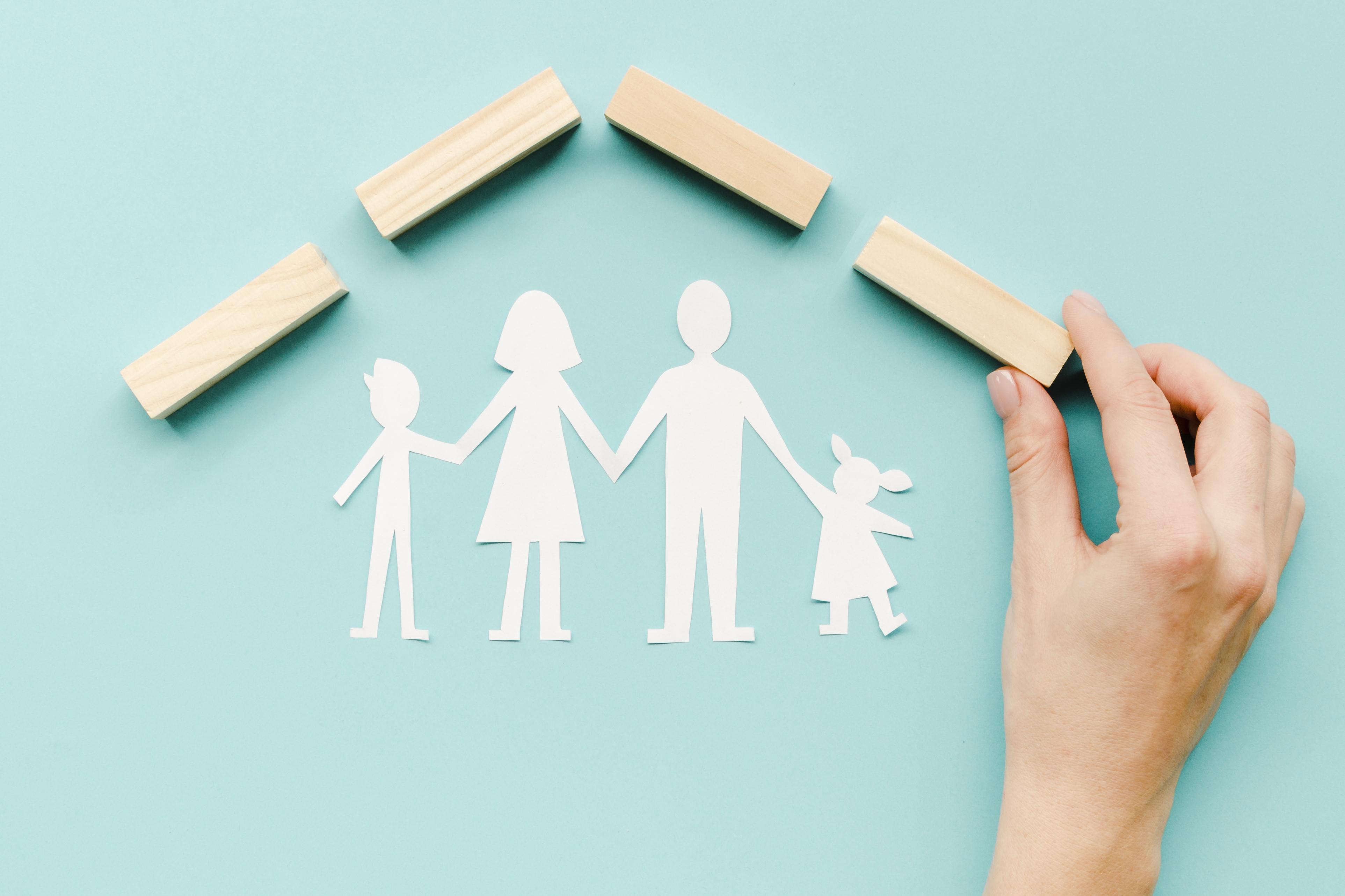 composition-family-concept-blue-backgrou