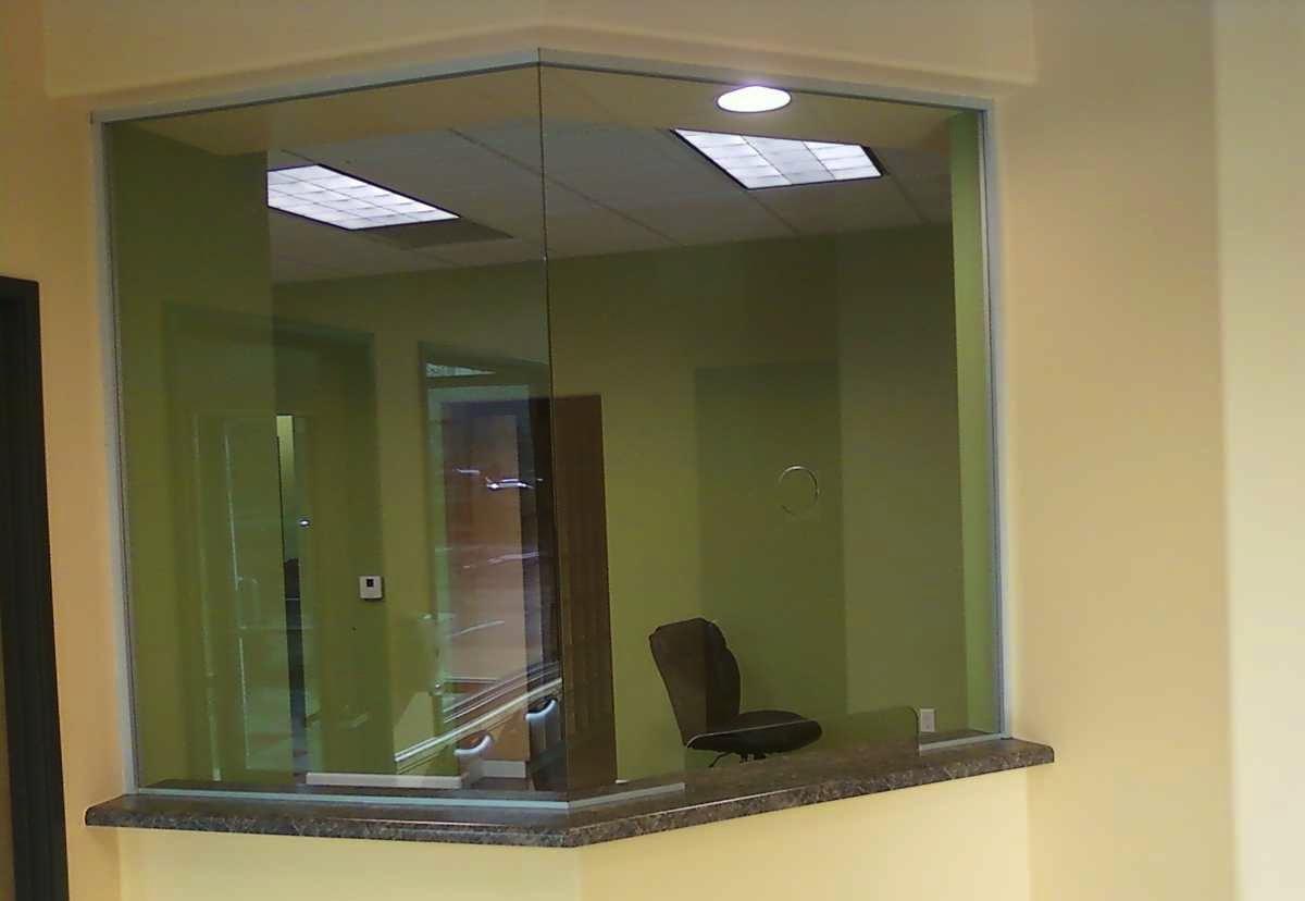 Transaction Window Glass Installed