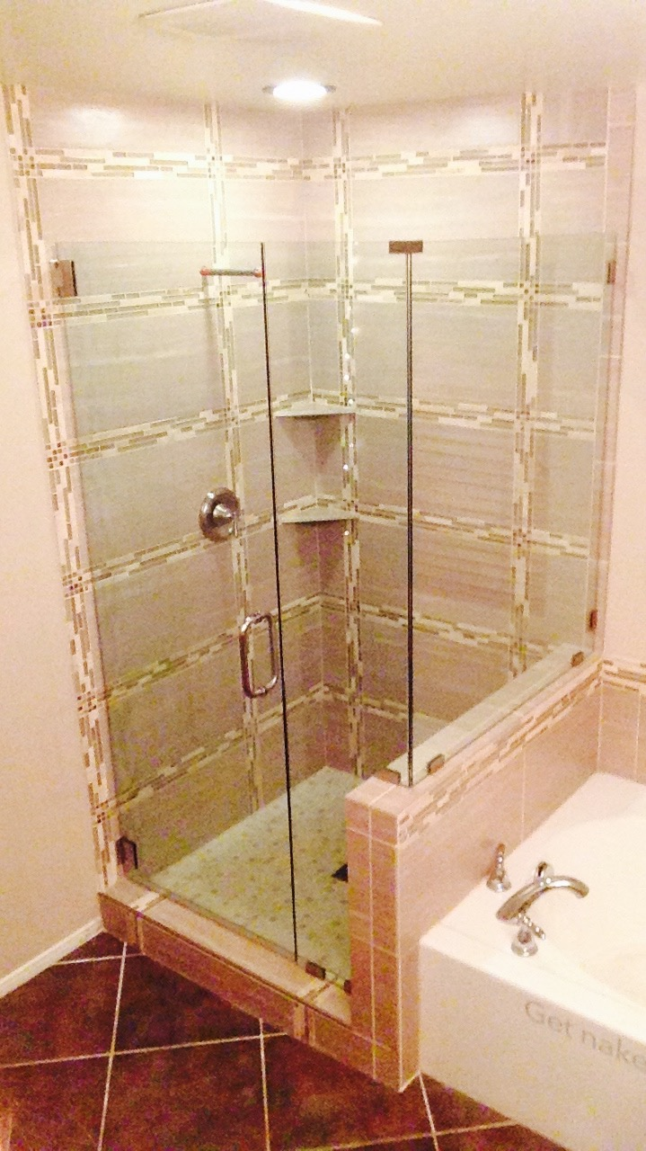 Custom Shower Glass Installed Heavy Shower Door Glass Las Vegas