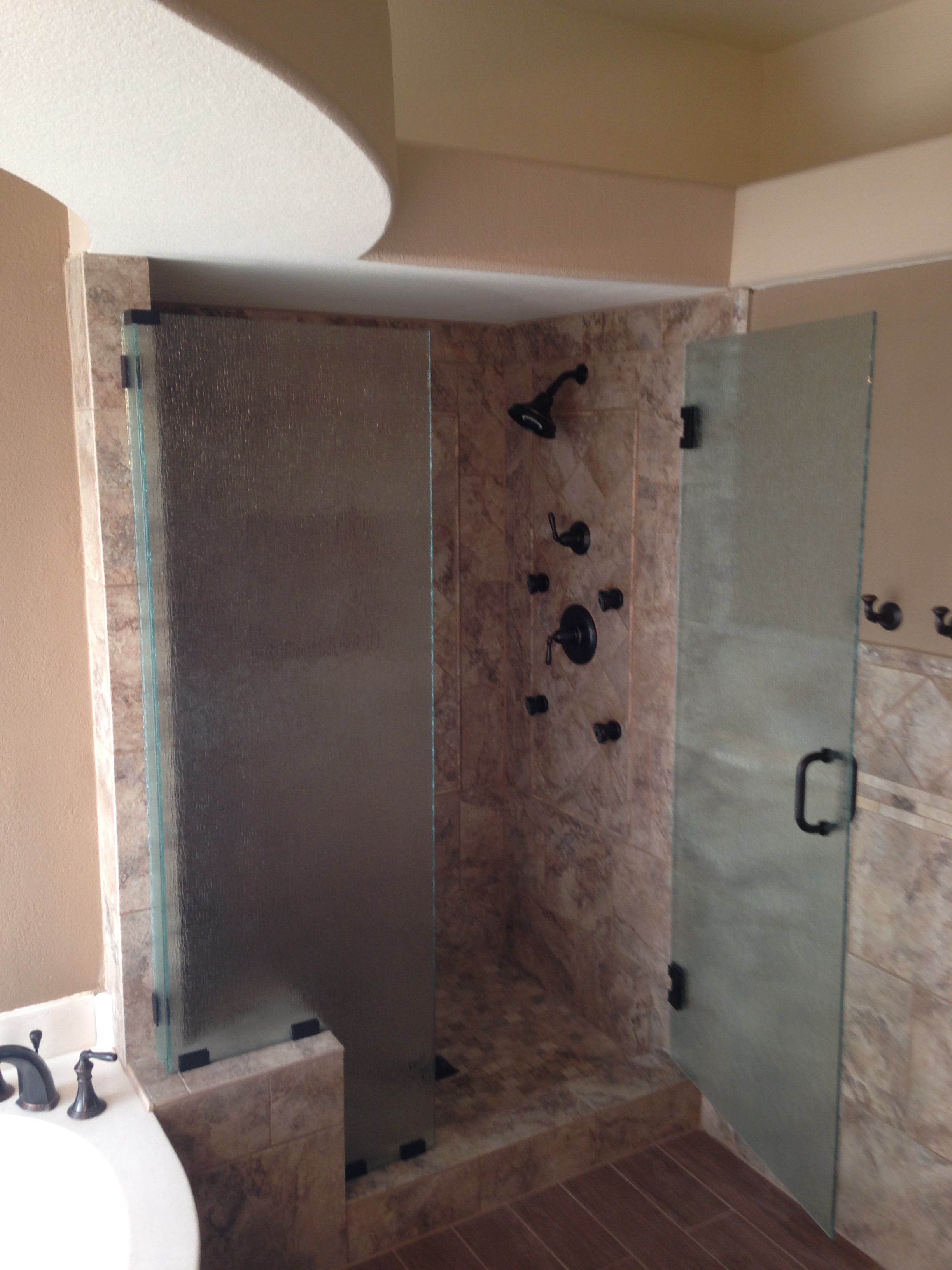 Shower Stall Glass Enclosure Install