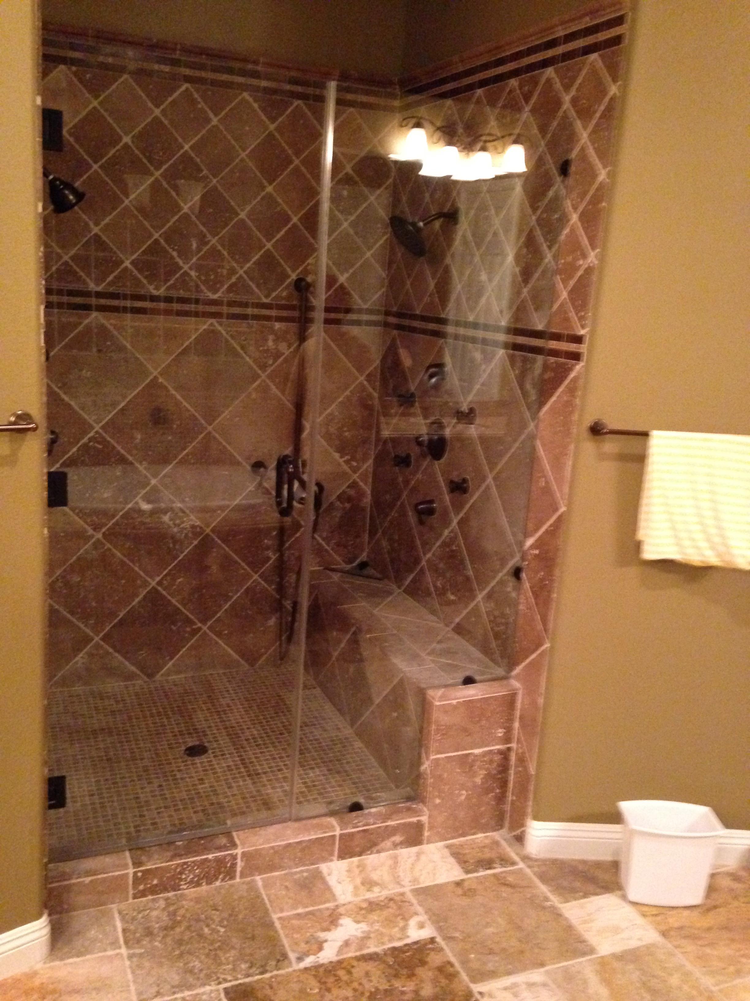 Custom Shower Enclosure Installed