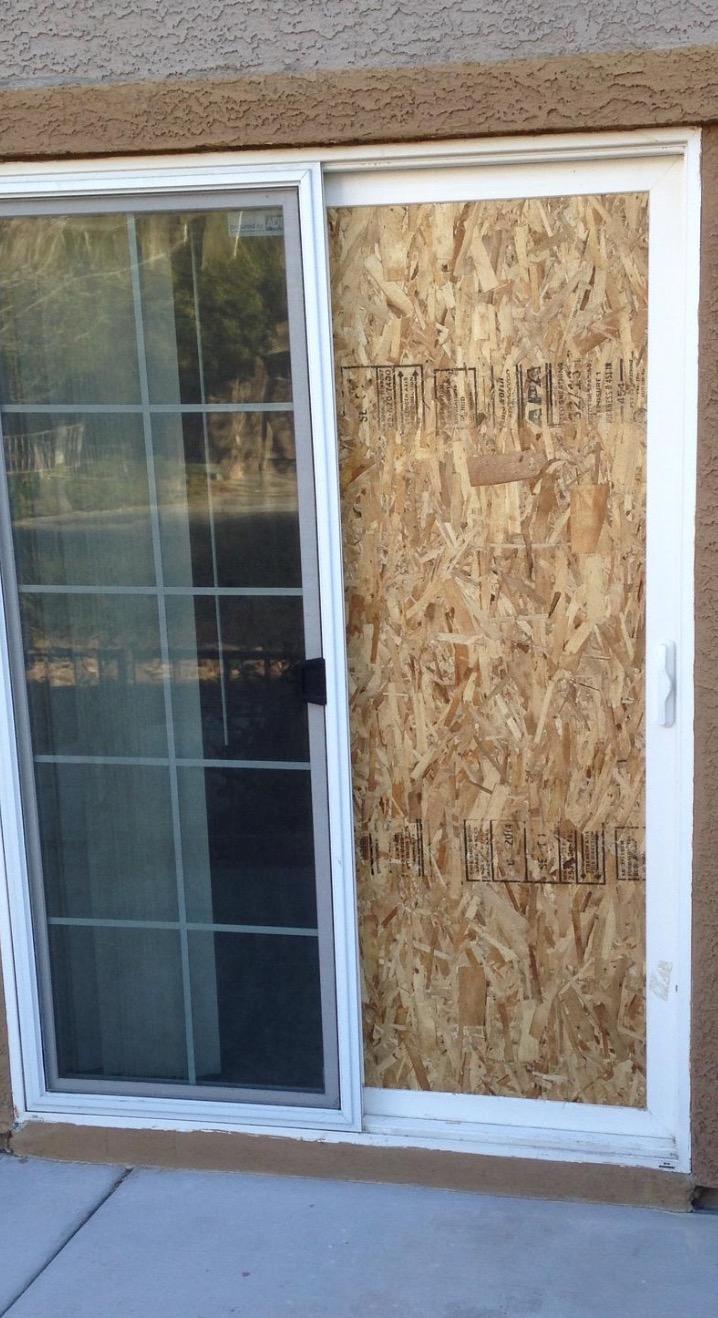 Patio Door Board Up Las Vegas