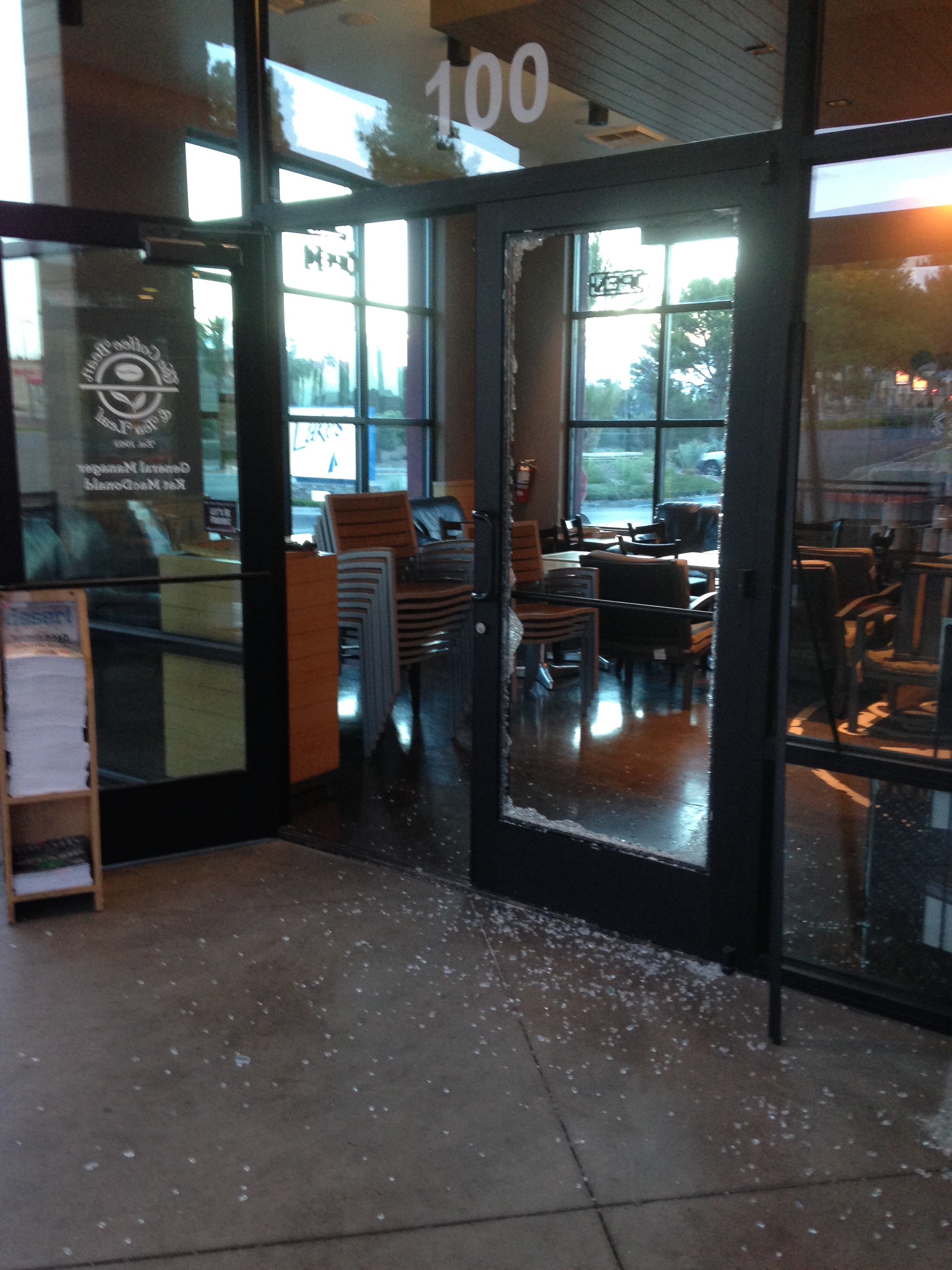 Broken Glass Door Business Las Vegas