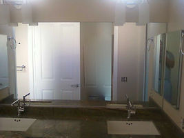 custom mirror installed, bathroom mirror repair, bathroom mirror replaced, mirror replacement, mirror repair, mirror installed, mirror installation, sell mirror, mirror wall, workout room mirror, exercise room mirror,exercise room mirror wall,Mirror Repair