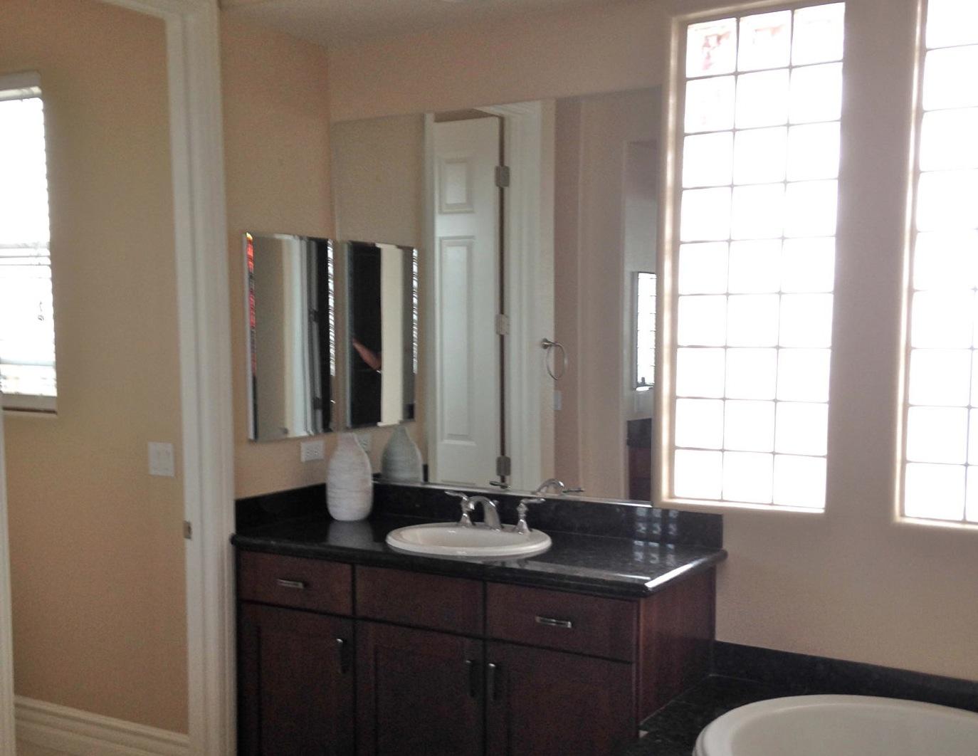 Custom Bathroom Mirror Installation
