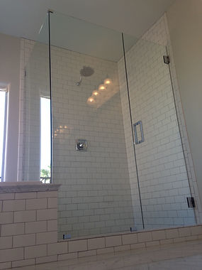Custom Shower Enclosure, Shower Doors, Semi-Frameless Shower, Shower Installation