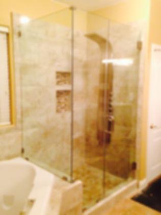 bathroom remodel, fix bathroom shower, replace bathroom shower enclosure, Las Vegas Shower replacement, fix shower, frameless shower enclosures, heavy duty shower glass, frameless shower, heavy glass shower,Las Vegas shower repair, paramountglasslv.com,
