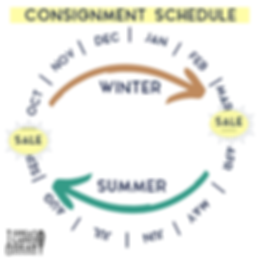 INSTA SIZE Consignment Schedule Graphic