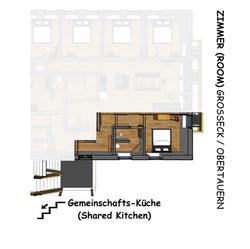 Grundriss Zimmer Grosseck u Obertauern