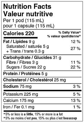 SG NUTRITIONAL VALUE TABLE - agropur_Van