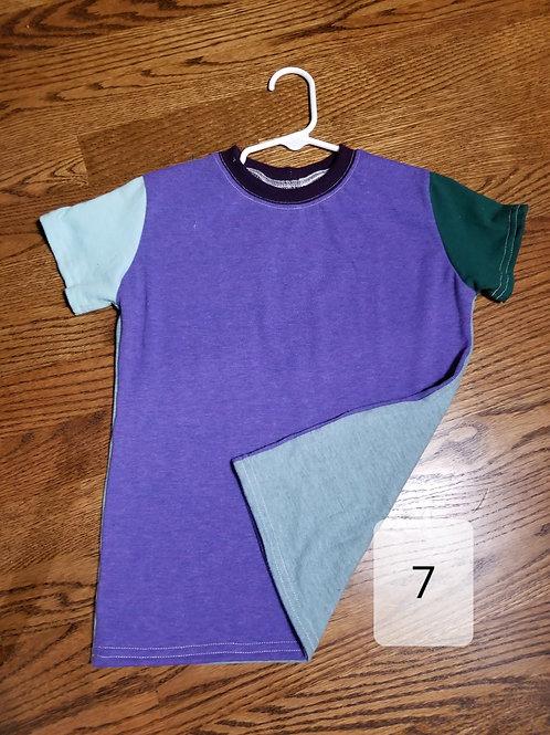 Colorblock Heather Purple