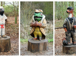 Wind in the Willows Sculpture trail Success!