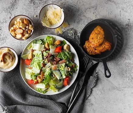 Cezario salotos su traškia šonine ir skrebučiais (0,450 kg)