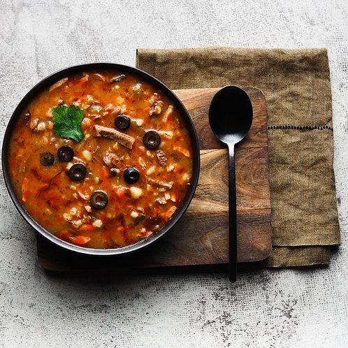 Naminė šiupininė sriuba su alyvuogėmis ir citrina (0,5 l)