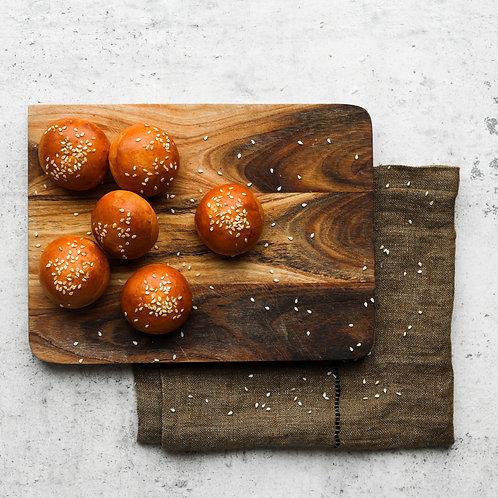 Sezamų bandelė (15 g) (6 vnt)