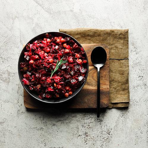 Raudona mišrainė su pupelėmis (0,5 kg.)