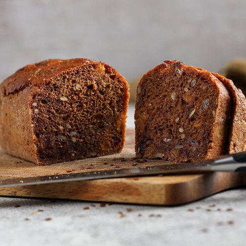 Ruginė duona su džiovintais vaisiais (1 vnt)