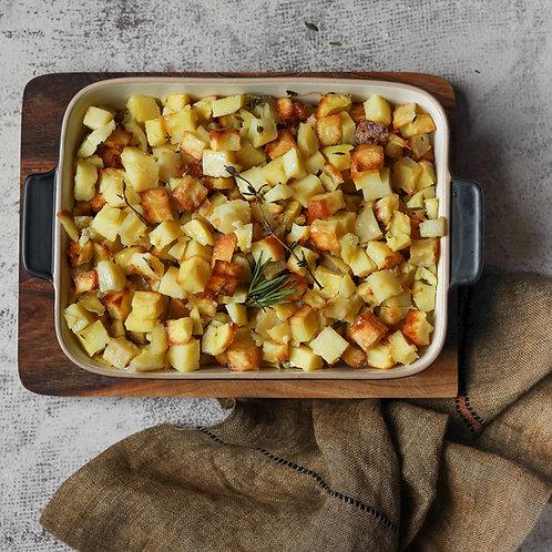 Keptos kubeliais bulvytės su rozmarinais (0,5 kg)