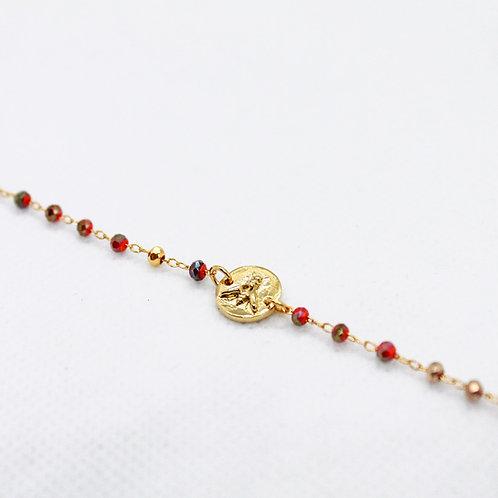 Bracelet Capucine Corail Or