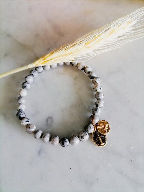 Bracelet Unique Jaspe Homme