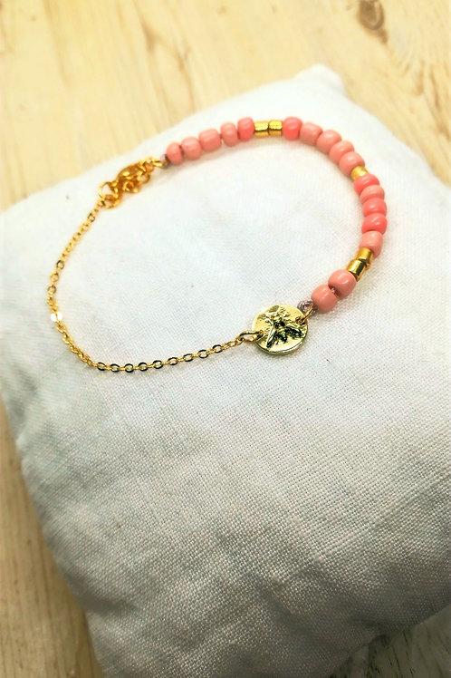 Bracelet Lys Rose