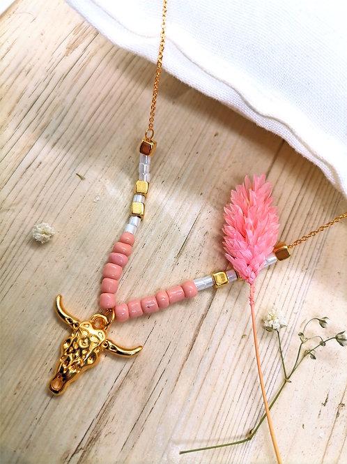 Collier Centaurée Rose