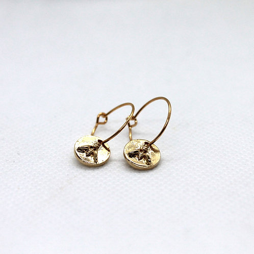 Boucles d'oreilles Rayon or 15mm