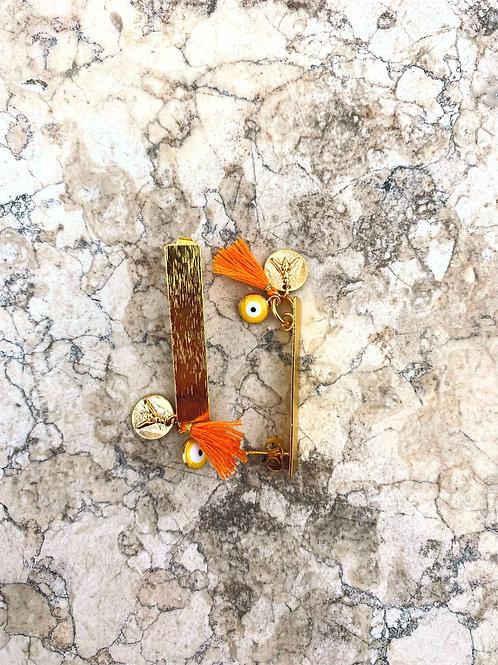 Boucles d'oreilles Oeillet Orange