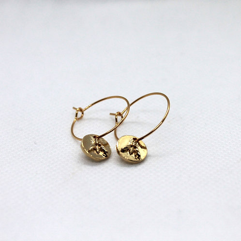 Boucles d'oreilles Rayon or 20mm