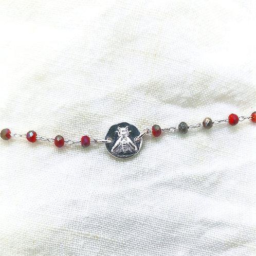 Bracelet Capucine Corail Argent
