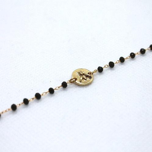 Bracelet Capucine kaki Or